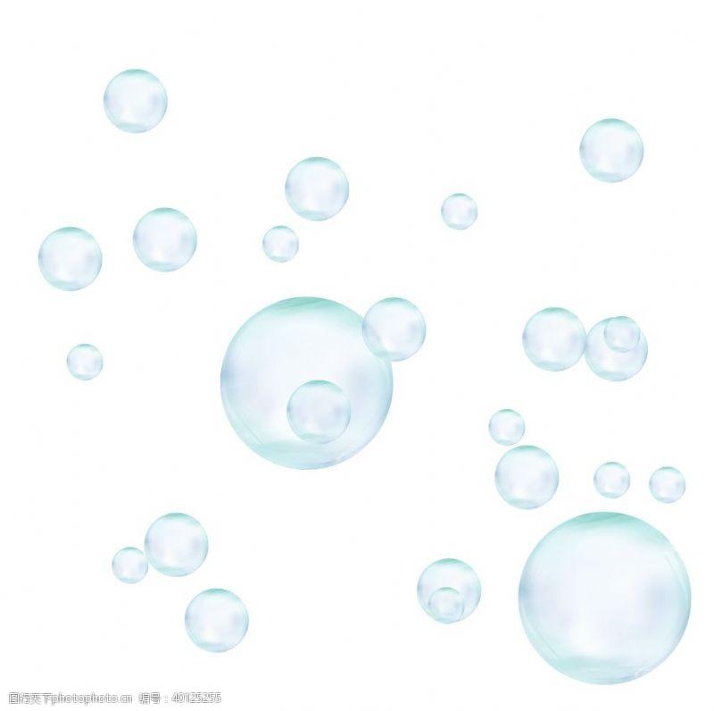 美容素材晶莹剔透泡泡元素图片