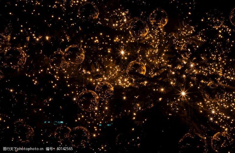 金色圣诞金色灯背景图片