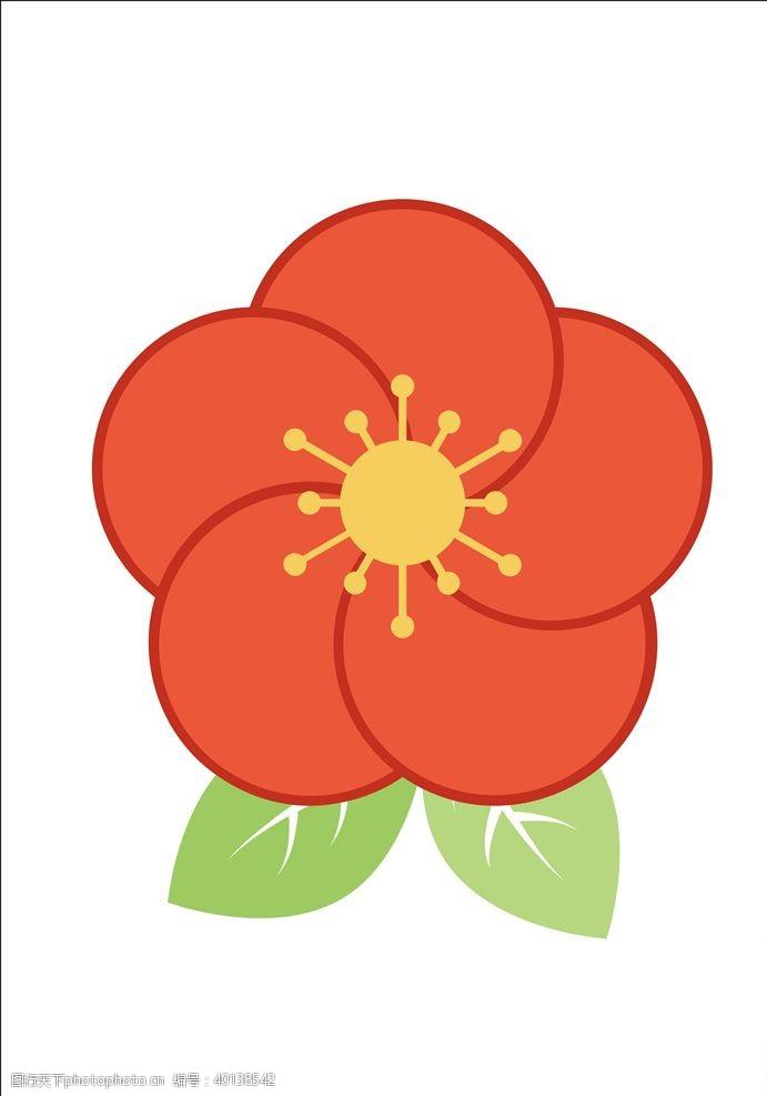 矢量花朵卡通花朵图片