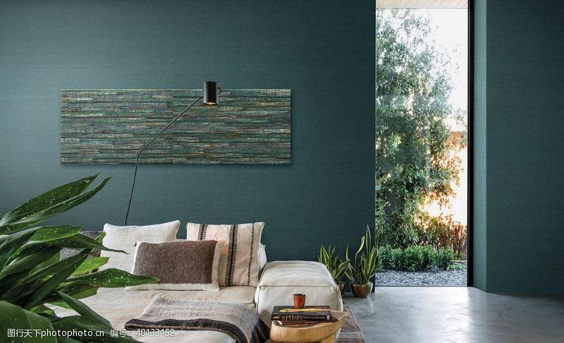 孔雀绿卧室设计展示图片