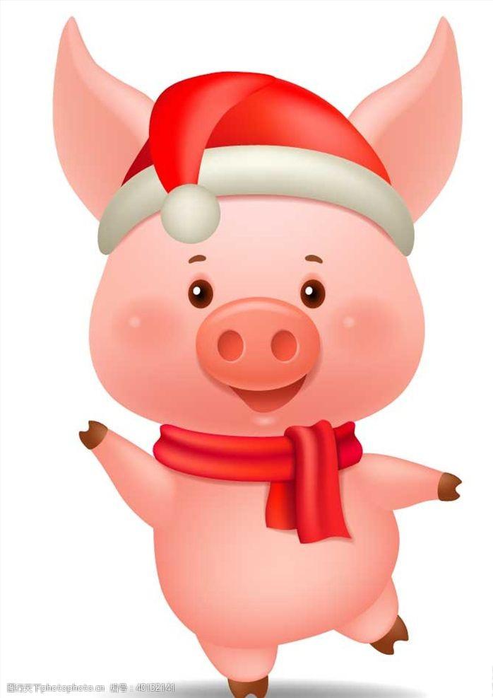 圣诞节小猪图片