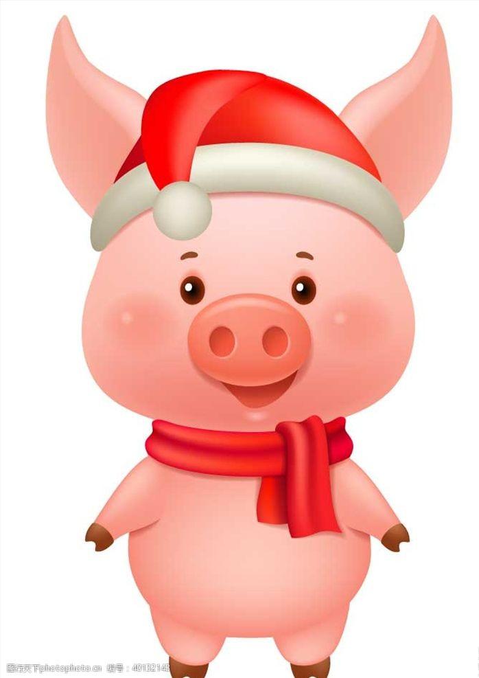 圣诞节装饰品圣诞节小猪图片