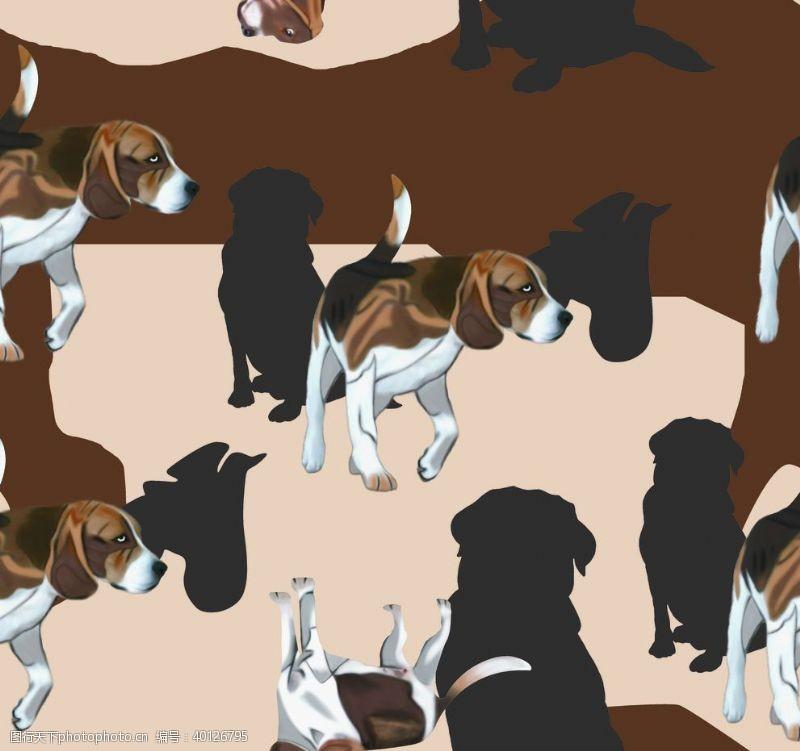 宠物狗手绘狗图片