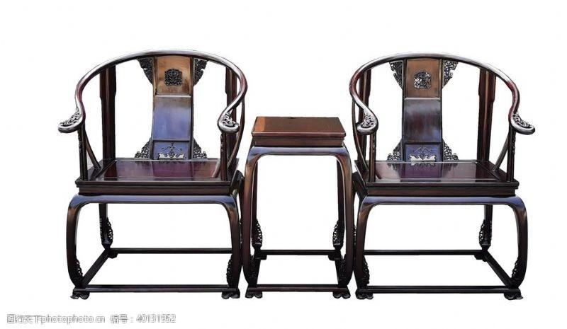 紫檀赞比亚小叶檀皇宫椅3件套图片