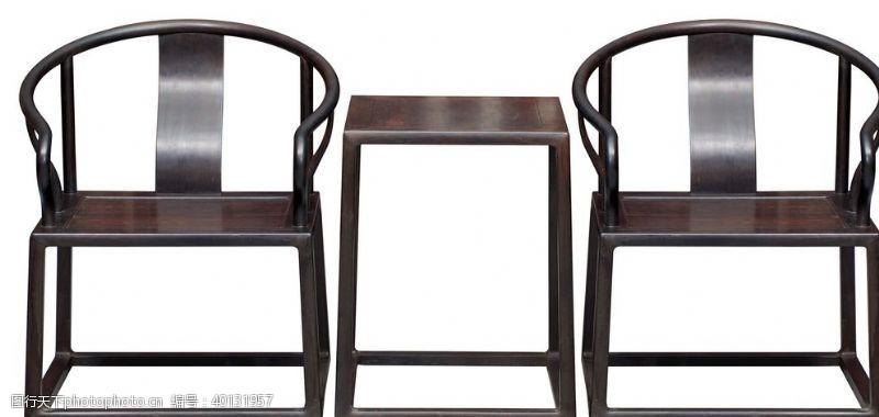 紫檀紫光檀圈椅图片