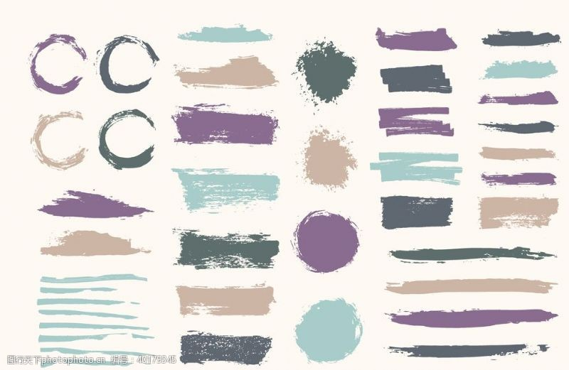 笔迹彩色笔刷图片