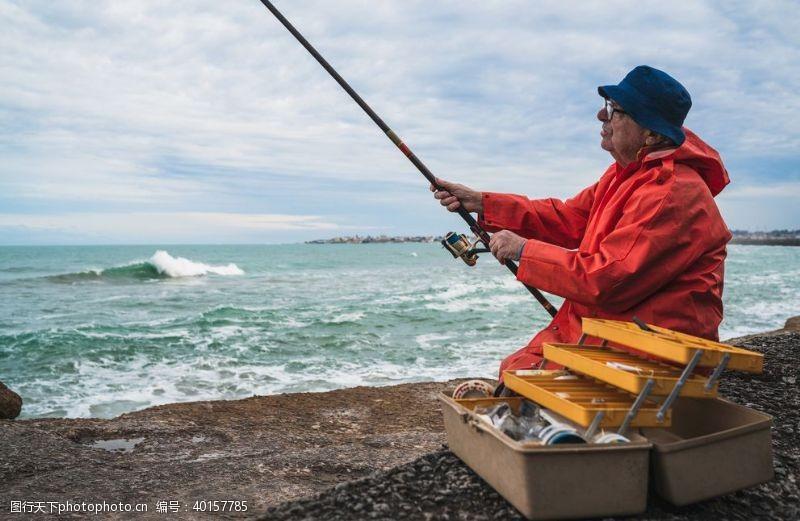 摄影图库钓鱼图片