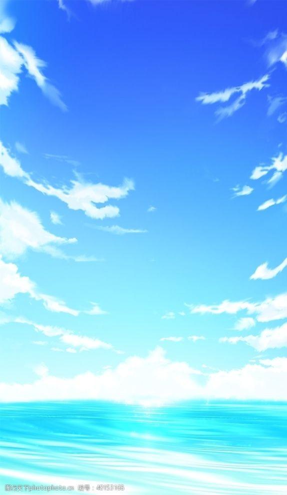 天空素材动漫天空图片