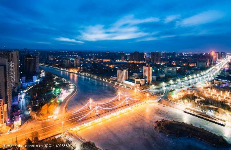 摄影模板繁华的城市夜景图片