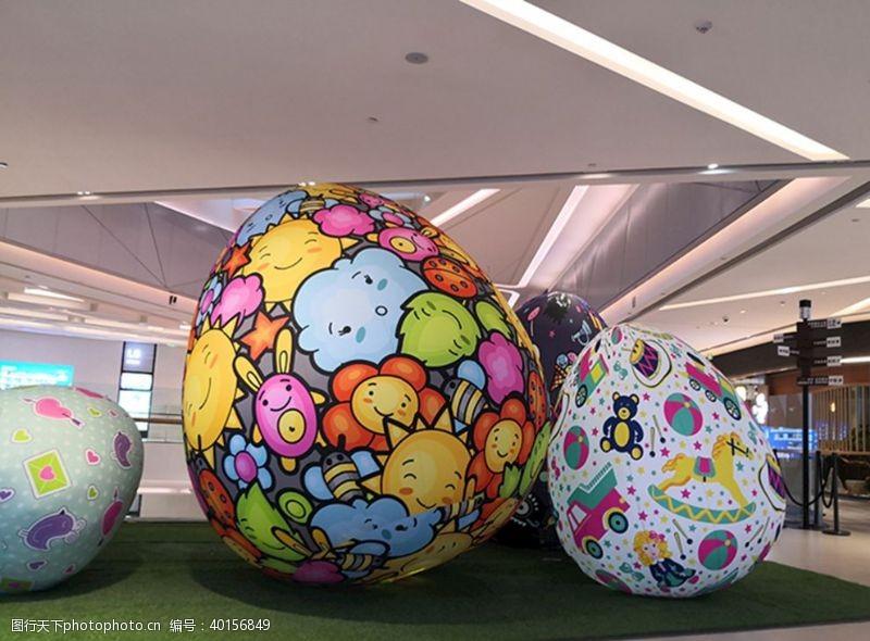 购物中心复活节彩蛋图片