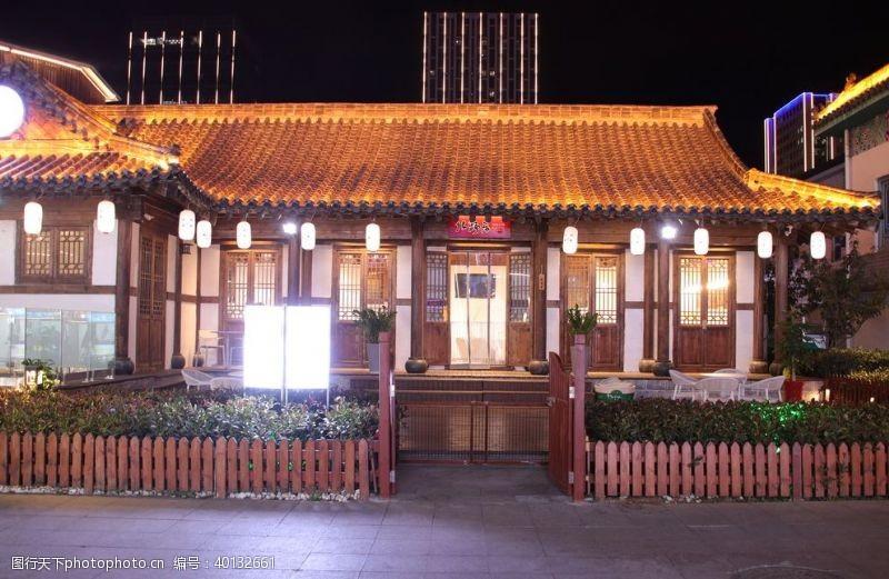 传统建筑韩国古房风光图片