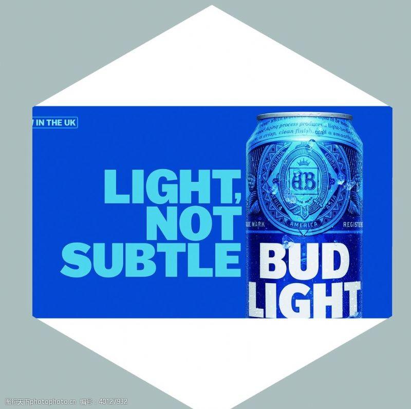 酒标进口蓝百威图片
