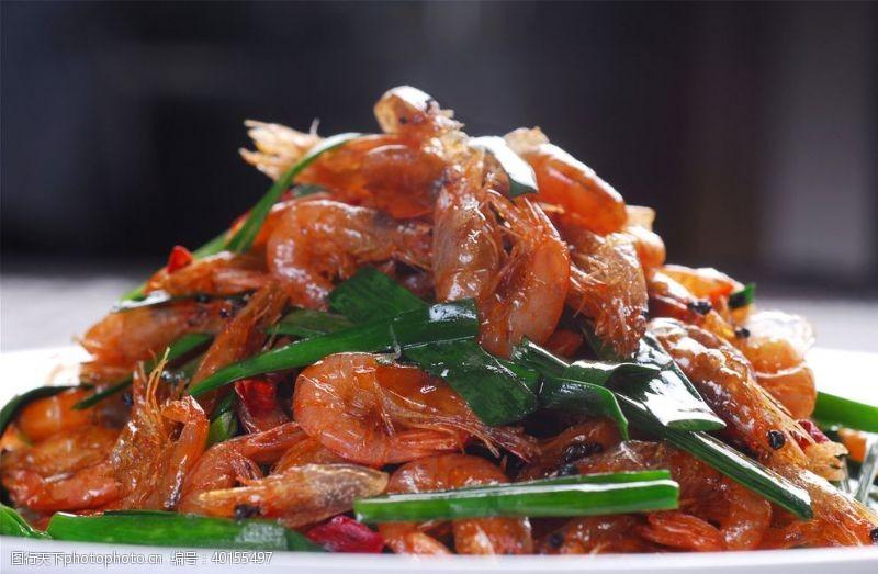 韭香炒小河虾图片