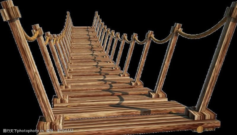 木桥免扣PNG素材图片