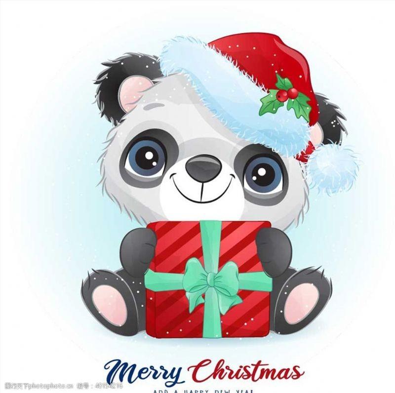 圣诞节图标圣诞节熊猫图片