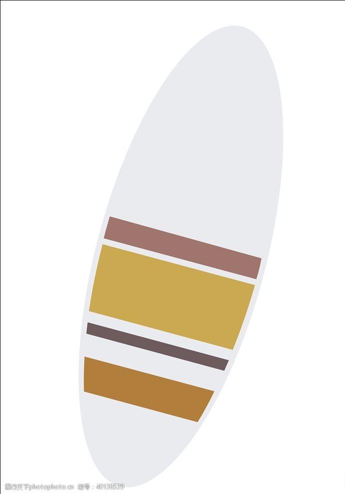 矢量冲浪板图片