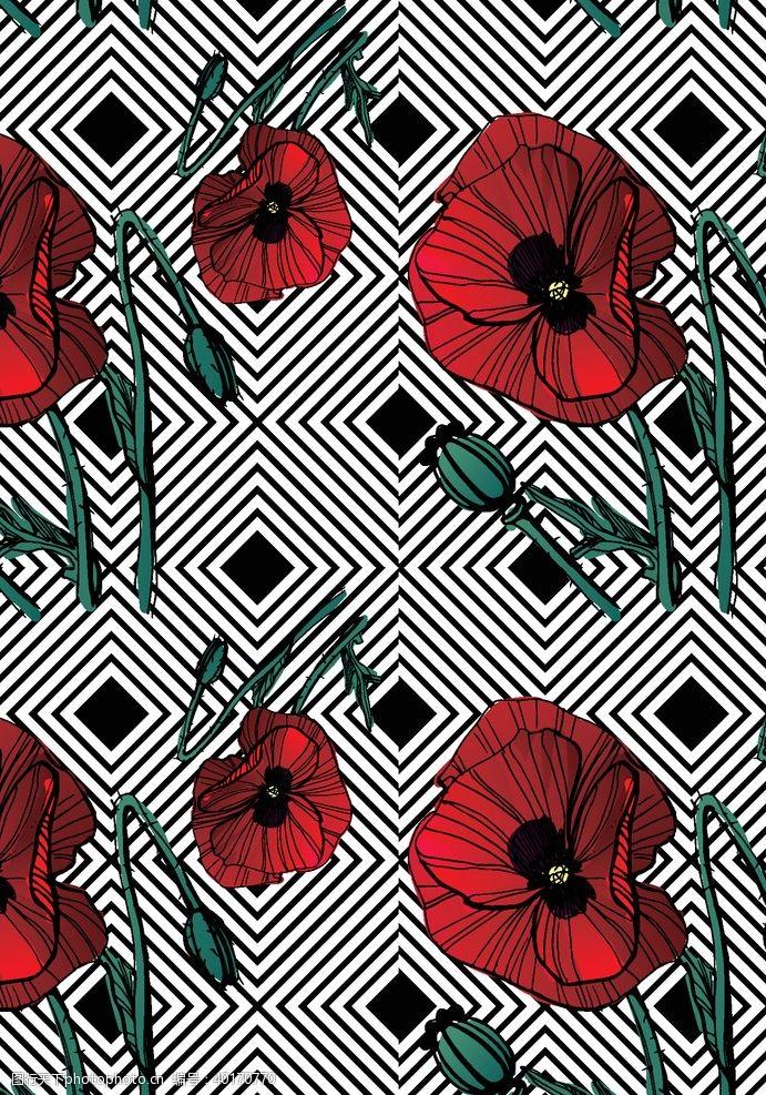 卡通线条线条花朵图片
