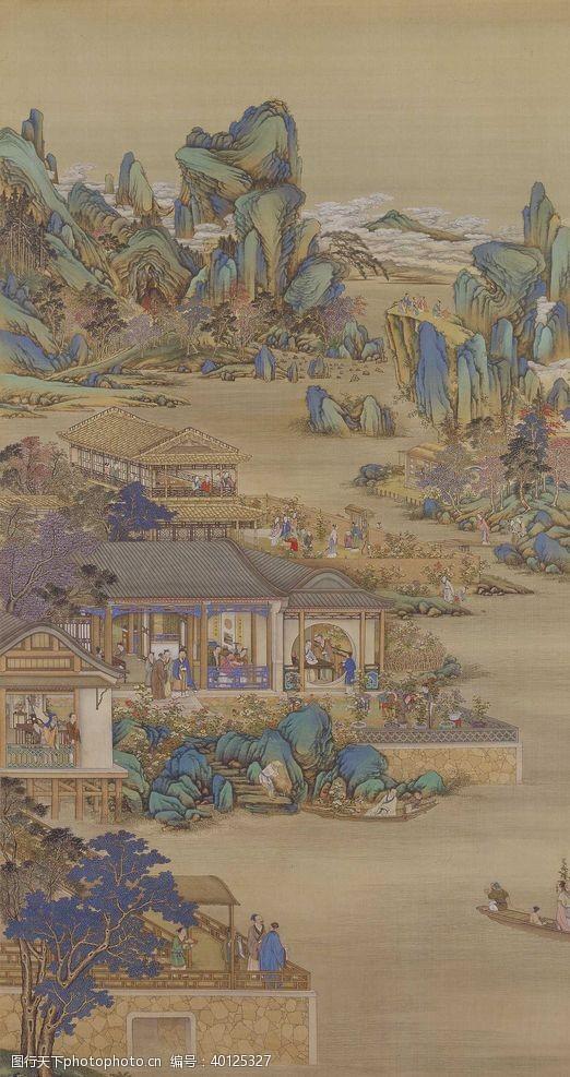 八月雍正十二月行乐图九月赏菊图片