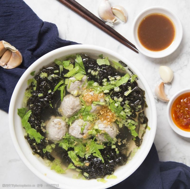 紫菜肉丸汤图片