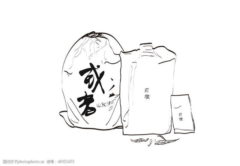 茶叶包装手绘图片