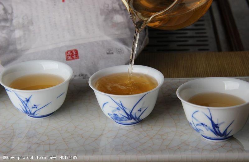 普洱茶茶艺茶汤图片