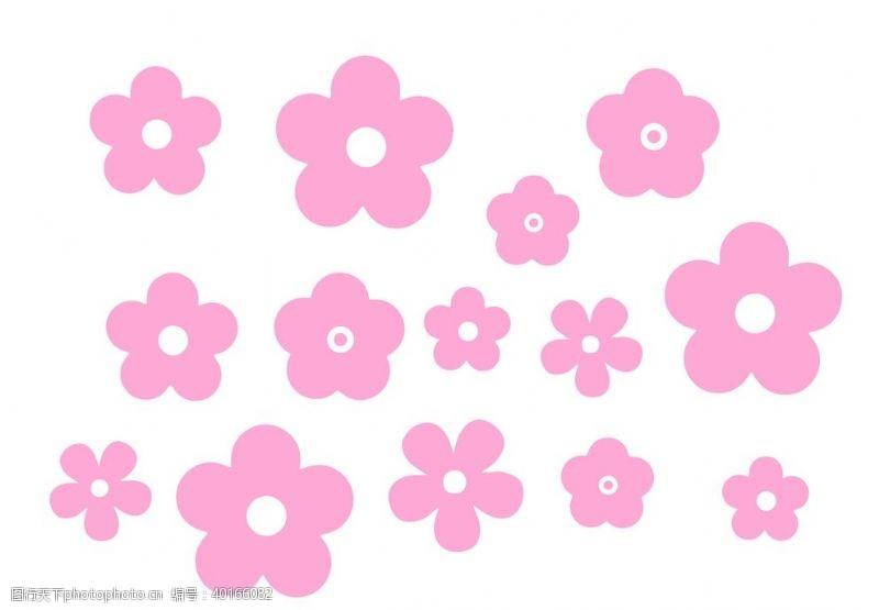 花瓣粉红花朵图片