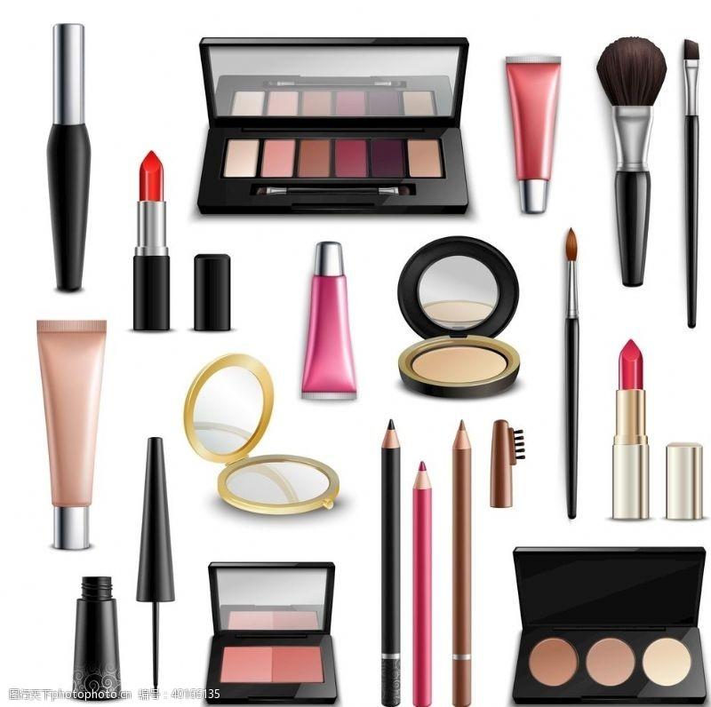 容各种各样化妆品图片