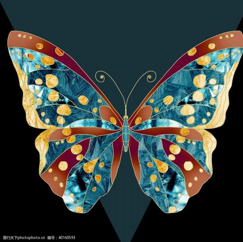 男装印花蝴蝶抽象图片