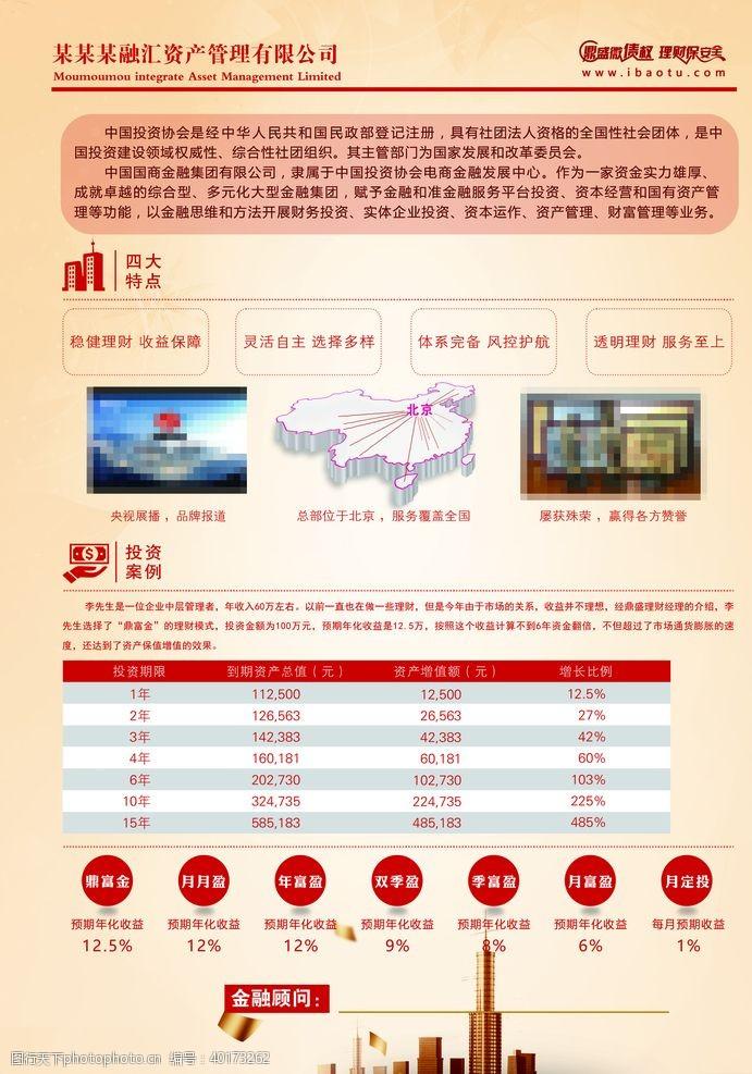 商业金融金融资产海报设计图片