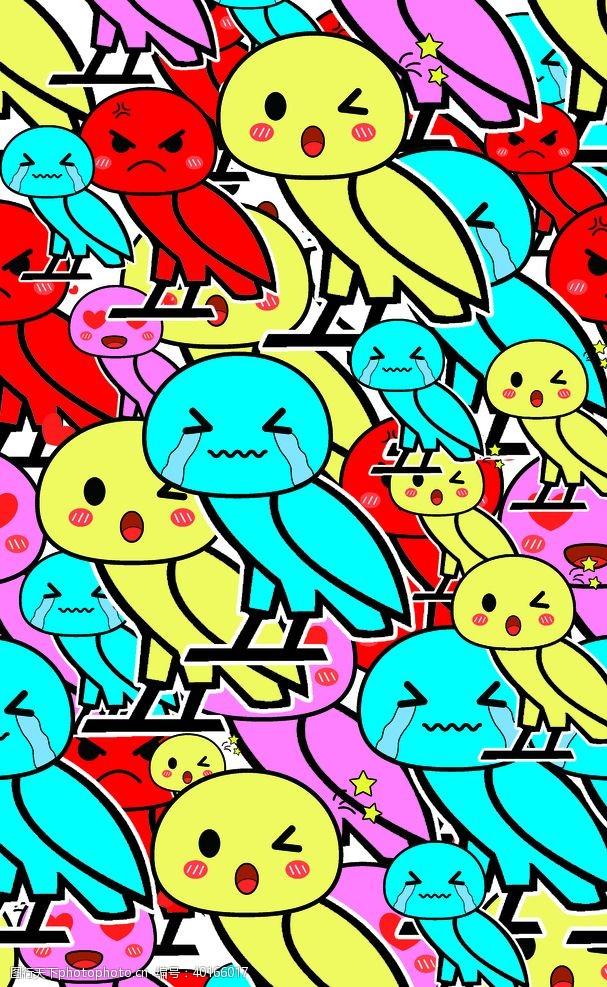 男装设计卡通愤怒的小鸟图片