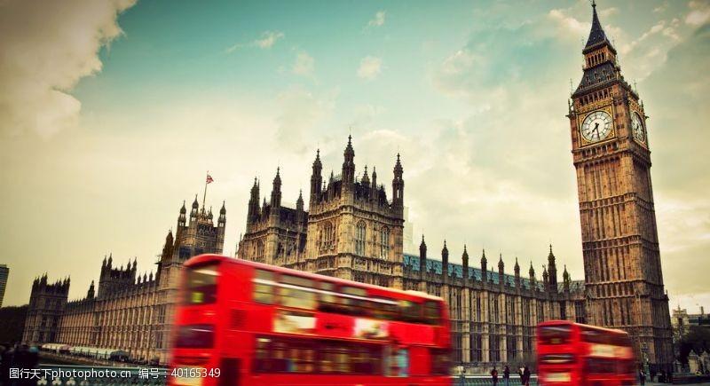 英国伦敦巴士街景图片