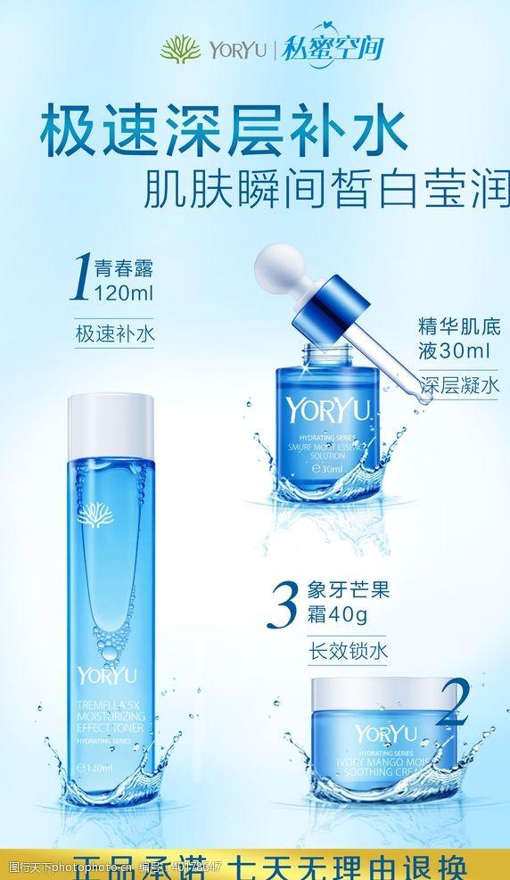 香薰美容美容化妆品海报图片