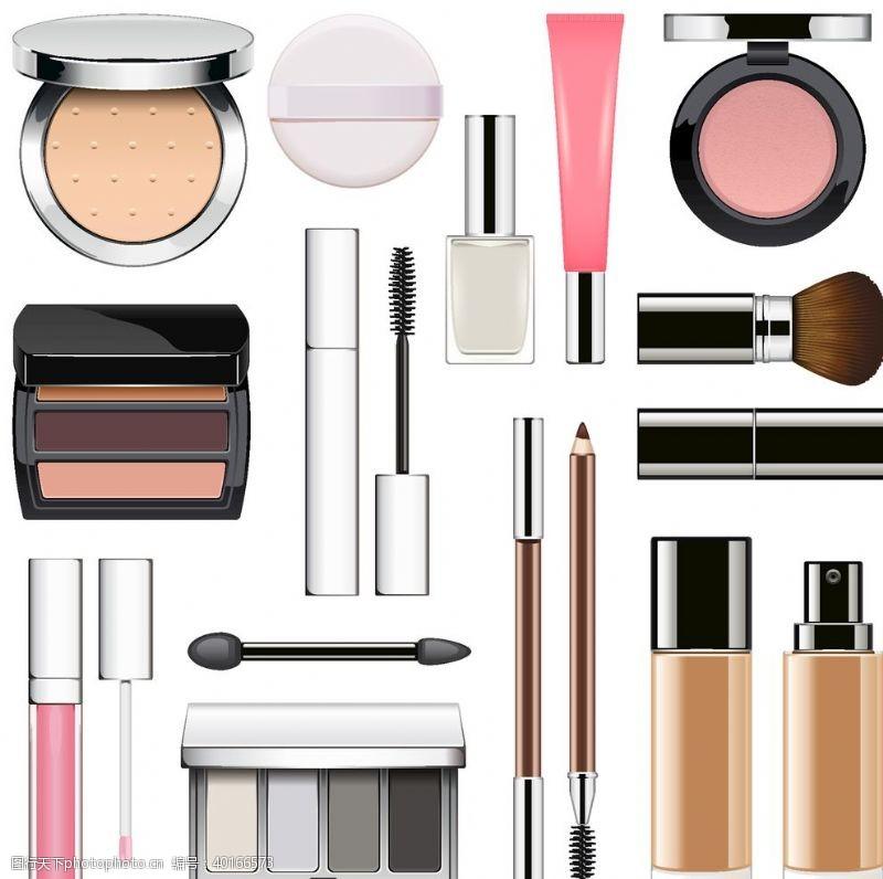 容矢量各式各样化妆品图片