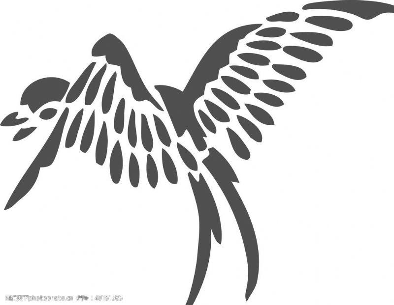 白描燕子图片