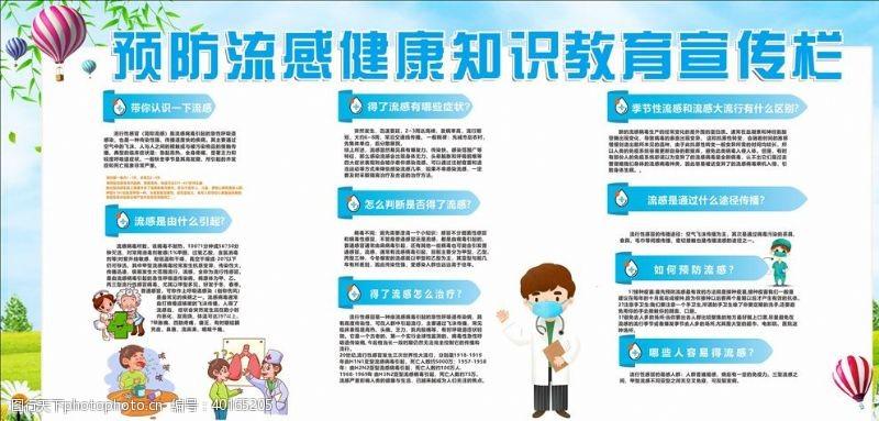 预防流感健康知识教育宣传栏图片