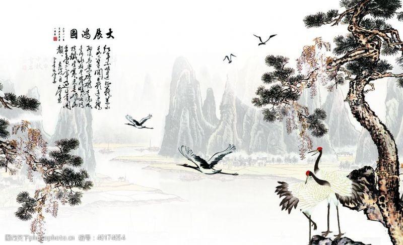 在背景中中式风格图片