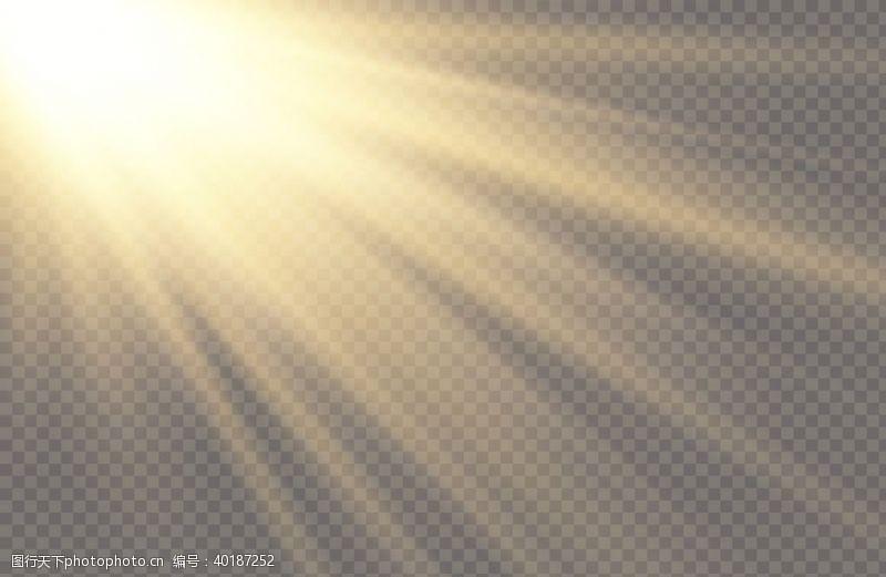白色光线灯光光芒图片