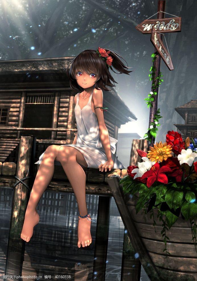 图片下载二次元动漫性感美女少女唯美妹子图片