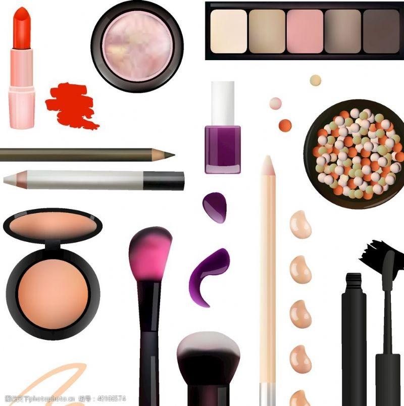 唇膏各式各样化妆品图片