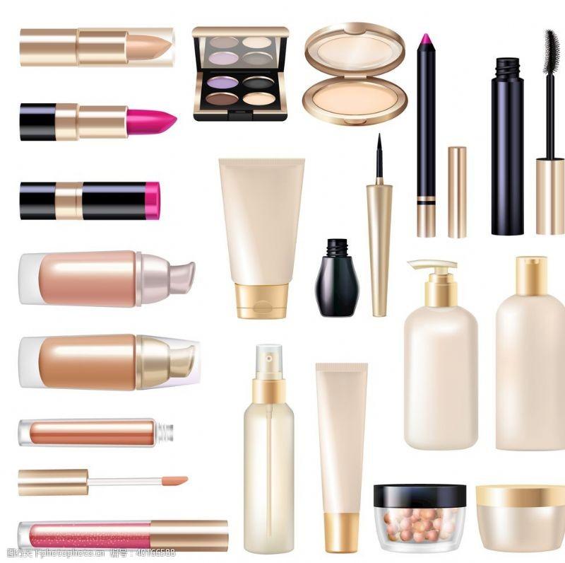 唇膏各种各样化妆品图片