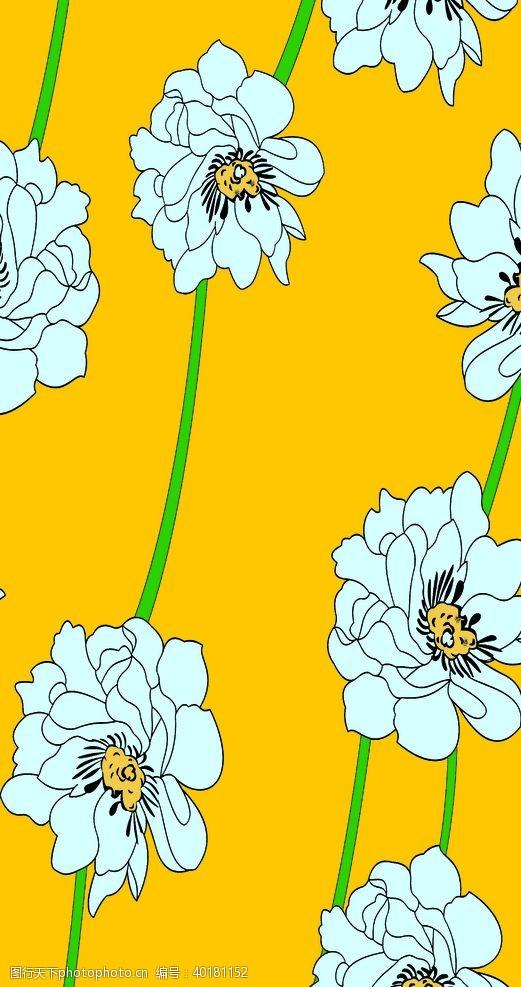 黄底白花图片