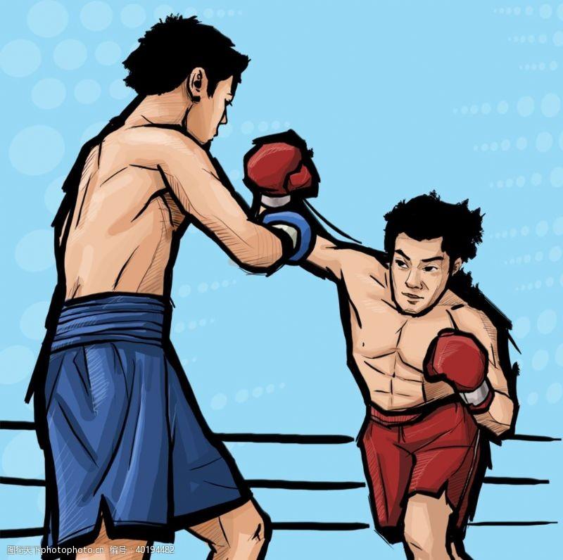 人物素材拳击比赛运动员图片