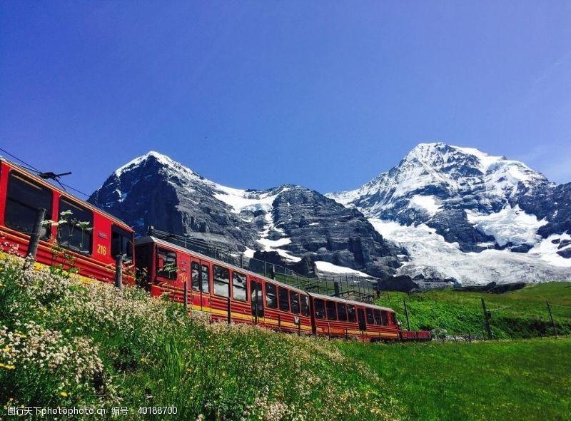 瑞士火车图片