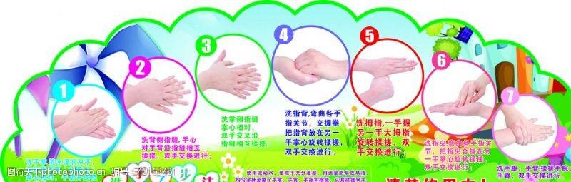手指洗手七步骤图片