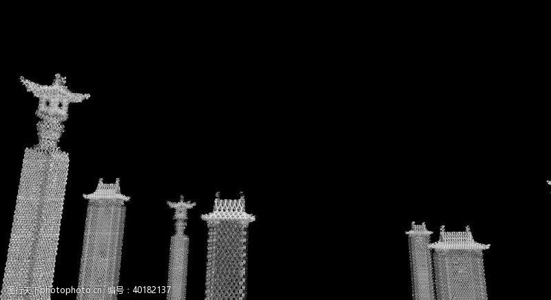 园林素材幽灵建筑图片