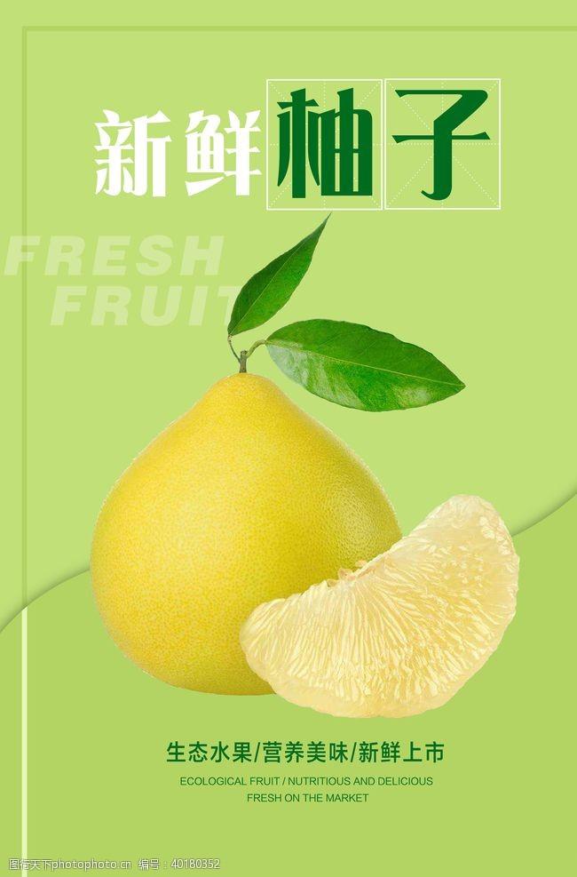 水果展板柚子海报图片