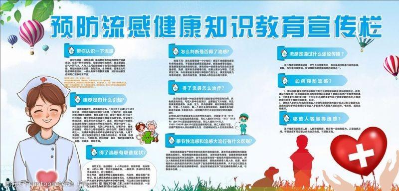 预防流感健康知识宣传栏图片