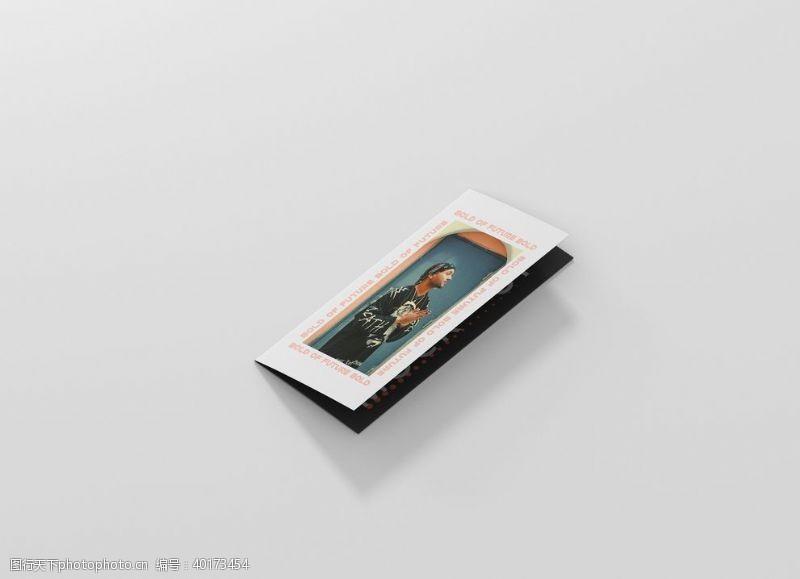 四折页折页样机图片