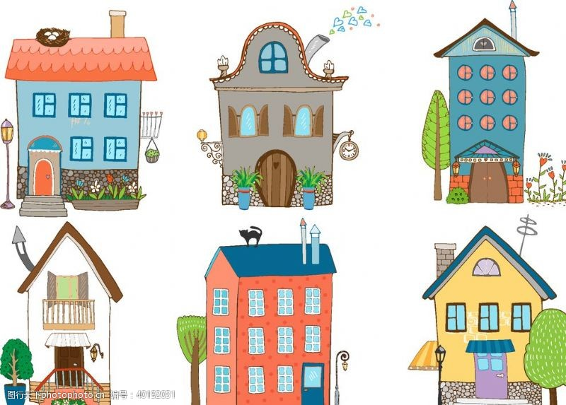 房子矢量插图图片
