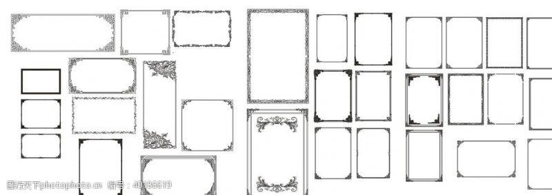 标志图复古花纹边框图片